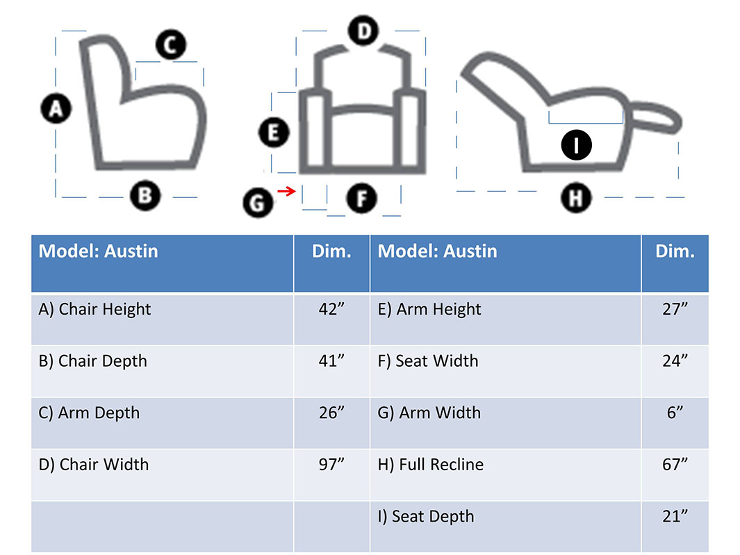 The Quot Austin Quot Seat Measurements Texas Theater Seating