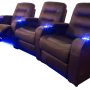 """The """"Austin"""" Curved Triple Black Reclined"""
