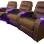 "The ""Austin"" Curved Triple Brown Reclined"