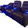 The Austin Triple Black Reclined
